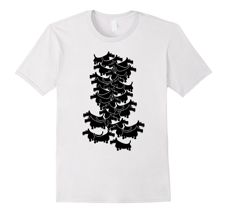 Scottish Terrier Black Pattern T-shirt-Vaci