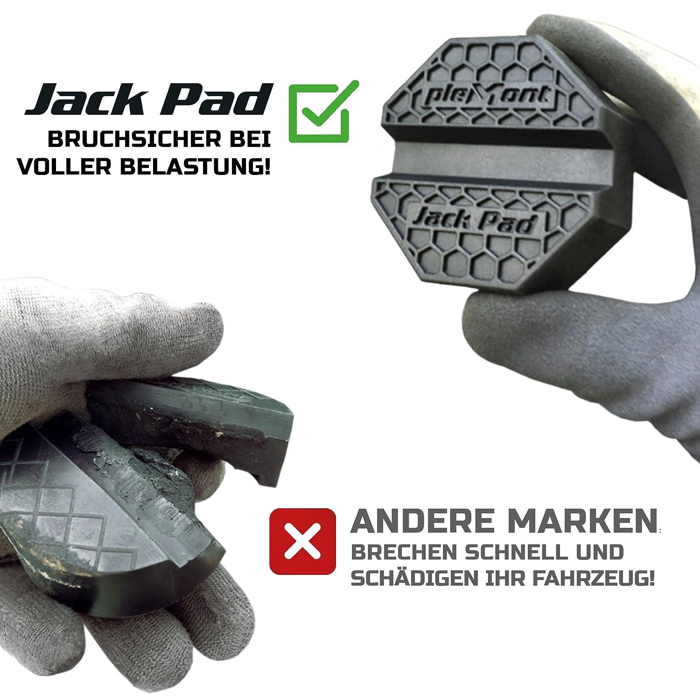 Tampon en caoutchouc Plemont pour cric Support en caoutchouc pour cric accessoire pour tous les crics /à levier ou hydraulique Fabriqu/é en Europe protection pour votre voiture Tuning