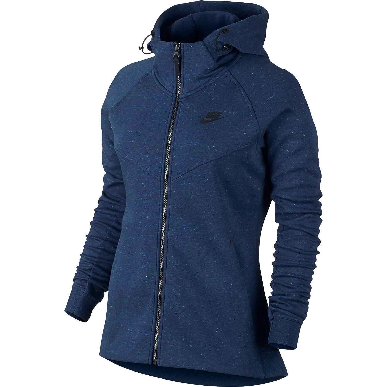 Amazon.com  NIKE Sportswear Tech Fleece Longsleeve Full Zip Women s Hoodie  Blue Black 842845-423 (Size S)  Sports   Outdoors c0d3ddf3c