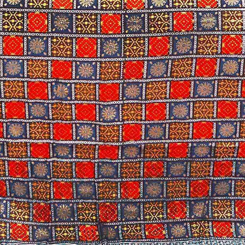 Little India Ethnic Bagru Handblock Print Double Bed Comforter 610