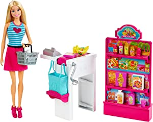 Barbie CKP77 Malibu Ave Grocery Store with Doll Playset