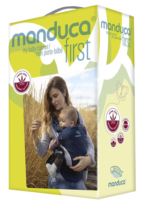 manduca First Baby Carrier  HempCotton  Babytrage aus weichem Canvas HempCotton, Red Hanf /& Bio-Baumwolle mit R/ückenverl/ängerung /& ergonomischen H/üftgurt