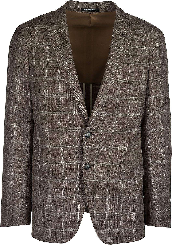 Emporio Armani cazadoras hombres americana de lana chaqueta nuevo marrón