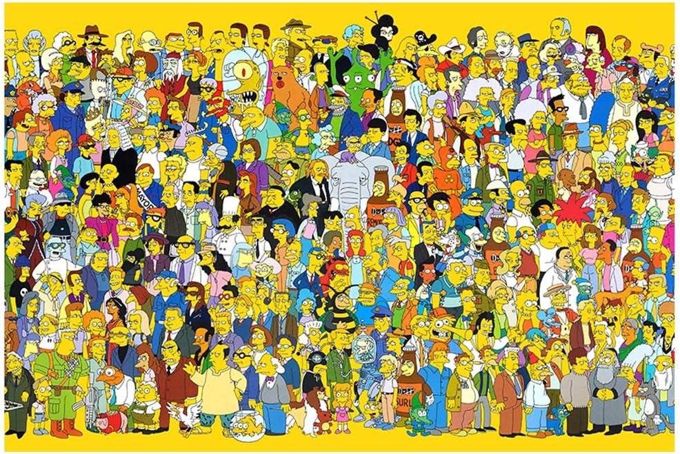 VAST Rompecabezas for el Muchacho de Las Amigas Regalo, Animado de Dibujos Animados Los Simpson Brain Challenge Cartón Puzzle, 300/500/1000/1500 PC 514 (Color : A , Size : 1000pc) : Amazon.es: Juguetes y juegos