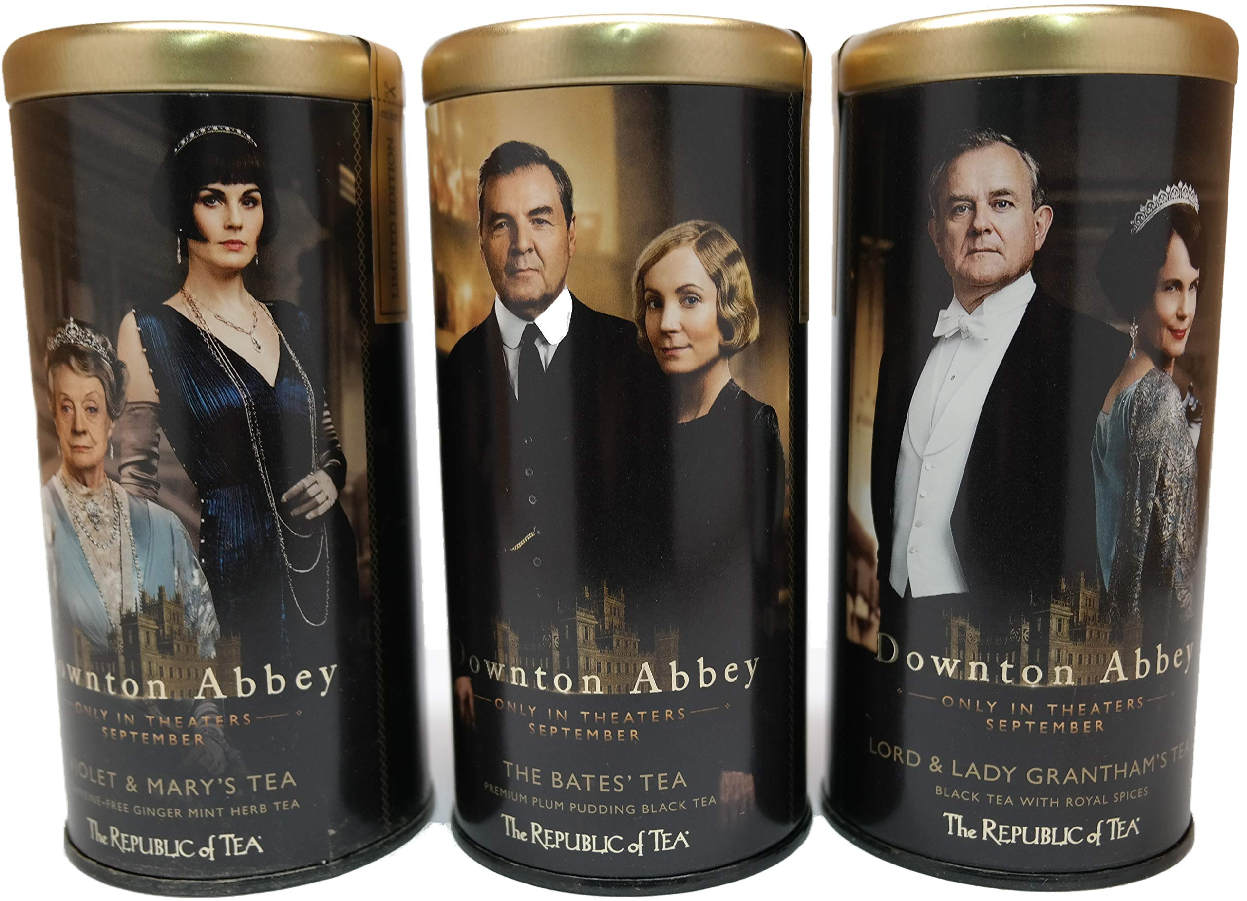 Downton Abbey Violet & Marys, Lord & Lady Granthams and The Bates Tea Bundle (Variety Pack of 3) by Republic Tea
