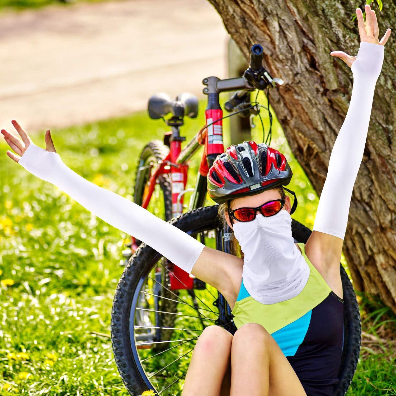Yoga TAGVO Copricapo Sciarpa Maniche da Braccio per Donne e Uomini Sport allAria Aperta Protezione UV Elastico Avvolgente e Scaldabraccia Pesca Motociclismo