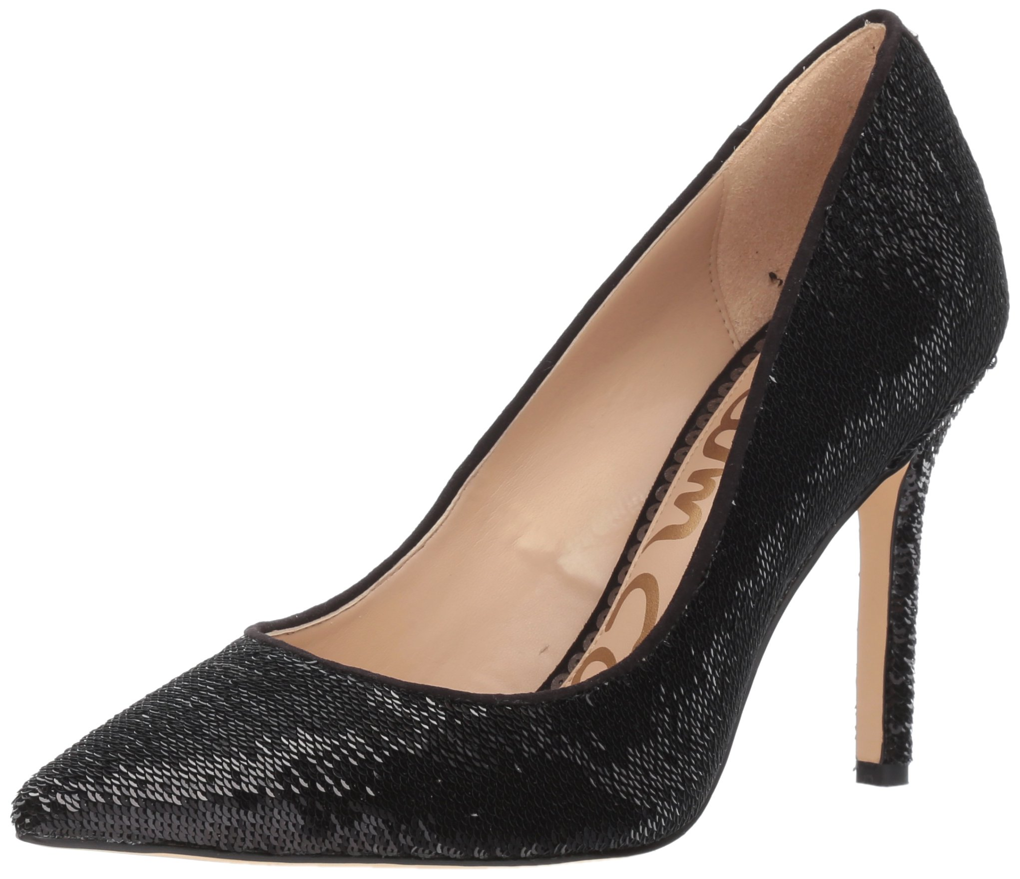Sam Edelman Women's Hazel Pump, Black Sequin, 7.5 Medium US