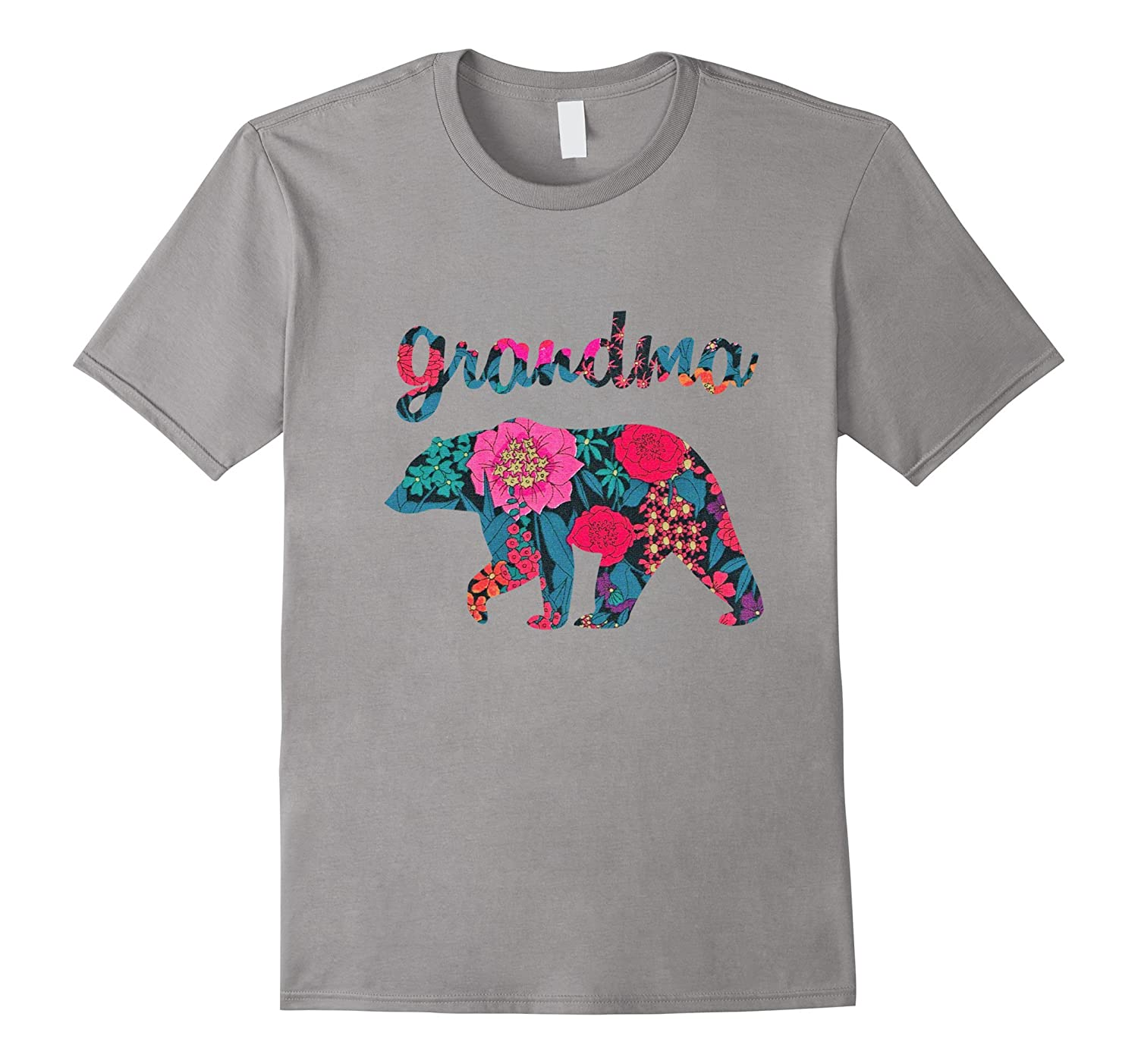 Happy Grandma Bear Floral T Shirt, Matching Family Bear Tee-4LVS