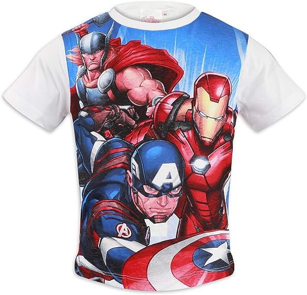 Marvel Avengers - Camiseta de manga corta para niño (algodón) 1049 Bianco 4 años: Amazon.es: Ropa y accesorios
