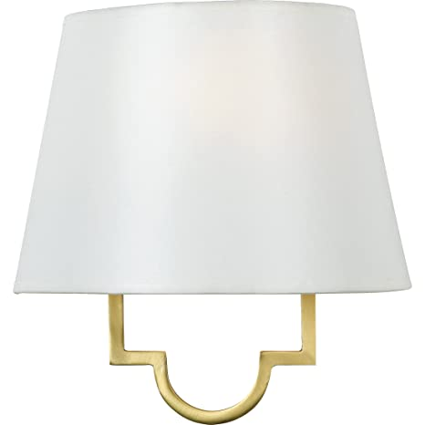 low priced ab87e ca3ed Quoizel LSM8801GY Millennium White Parchment Wall Sconce Lighting, 1-Light,  60 Watt, Gallery Gold (11