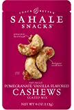 Sahale Snacks Pomegranate Vanilla Flavored Cashews Glazed Mix, 4 oz, Pack of 6 – Resealable Pouch, Nut Snacks with No Artificial Flavors, Preservatives or Colors, Gluten-Free Snacks