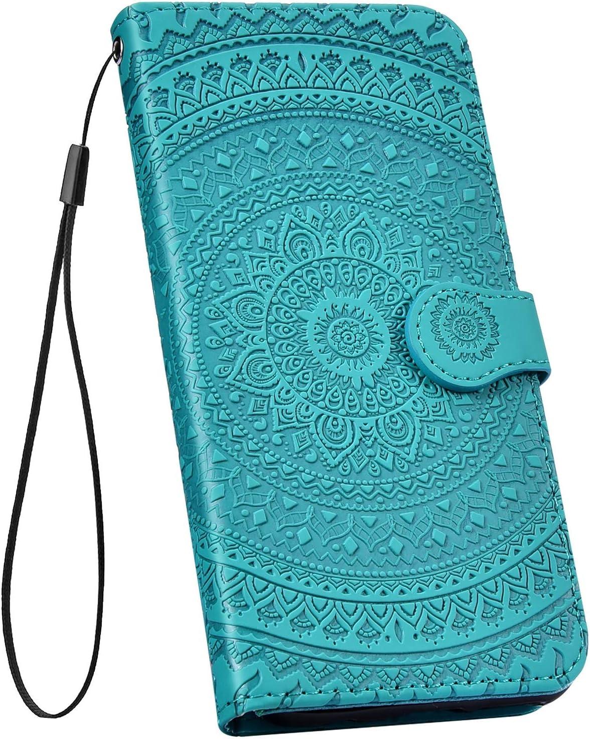 Surakey PU Leder H/ülle f/ür Huawei Honor 8X Handyh/ülle Schutzh/ülle Retro Mandala Blumen PU Leder Brieftasche Flip Case Wallet Tasche Ledertasche Handytasche St/änder Kartenf/ächer,Grau