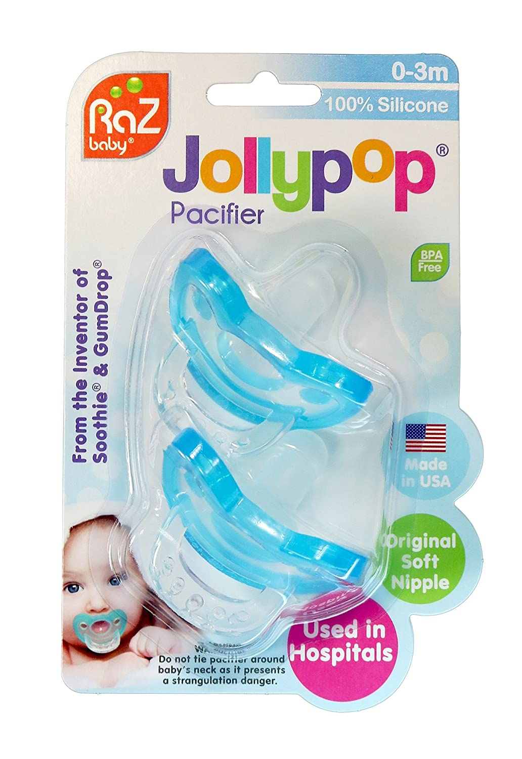 Amazon.com: jollypop Baby Pacifier Single Pack Sin Perfume ...