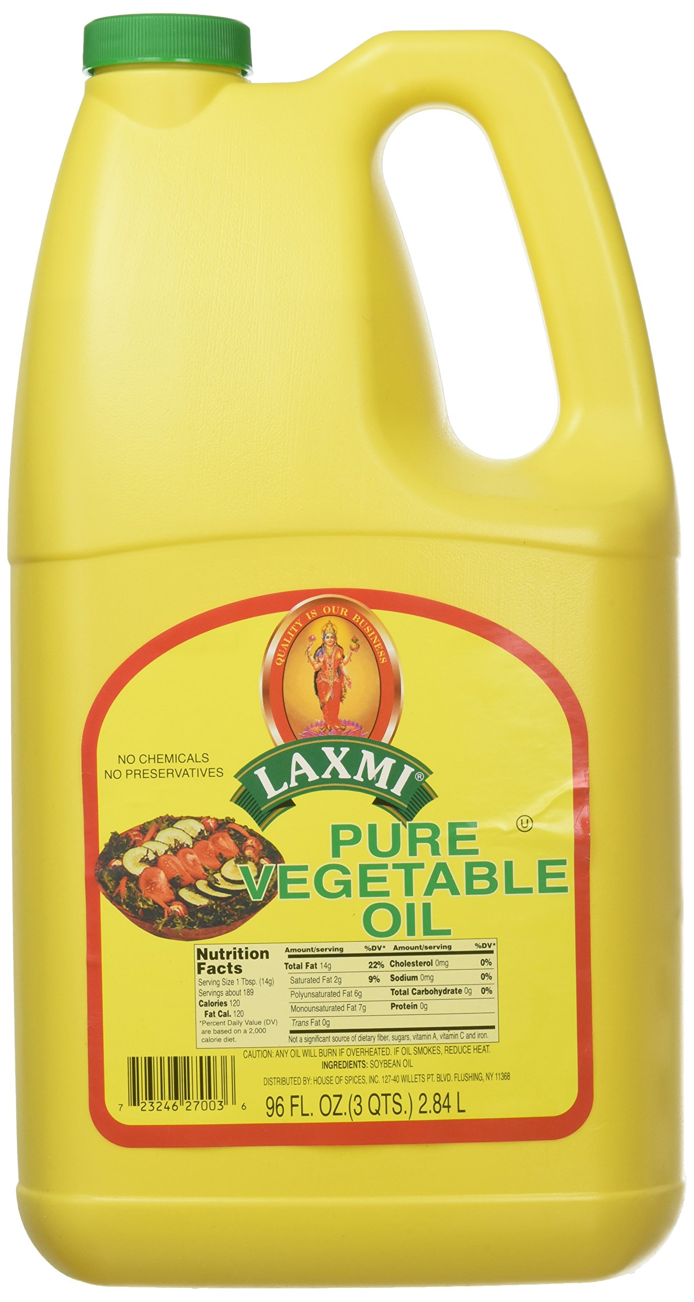 Laxmi, Pure Vegetable Soybean Oil, 2.84 Liter(ltr)