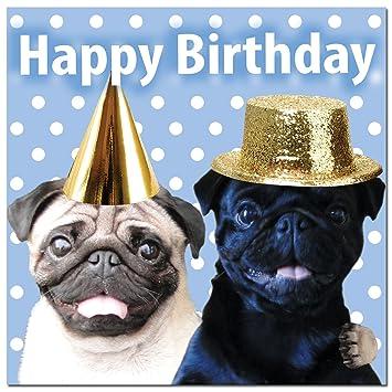 Fun Mopse Mops Party Mops Hund Geburtstag Grusskarte Amazon De