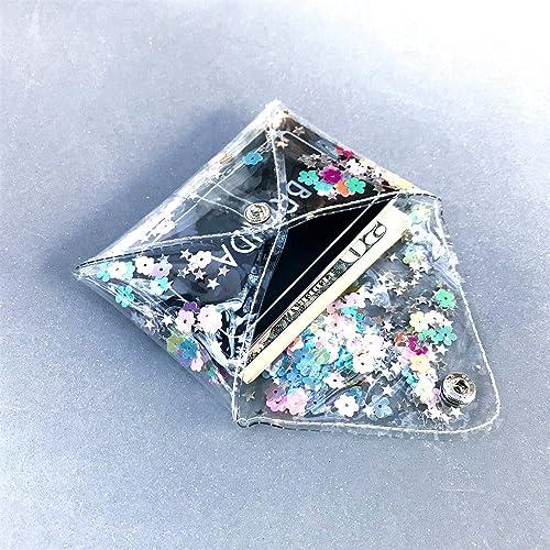 Amazon.com: Rainbow Glitter Clear Coin Purse,