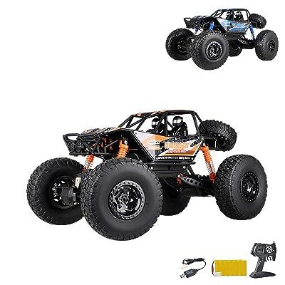 2,4 GHz RC Control Remoto (4 WD accionamiento Crawler de Buggy, Vehículo de escalada, Truck, vehículos, escala 1: 14, Auto, Car, Set completo: Juguetes y juegos