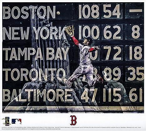 ff07d0a5d Andrew Benintendi Boston Red Sox 2018 MLB World Series Champions Artist  Signed 8 quot  x 10 quot