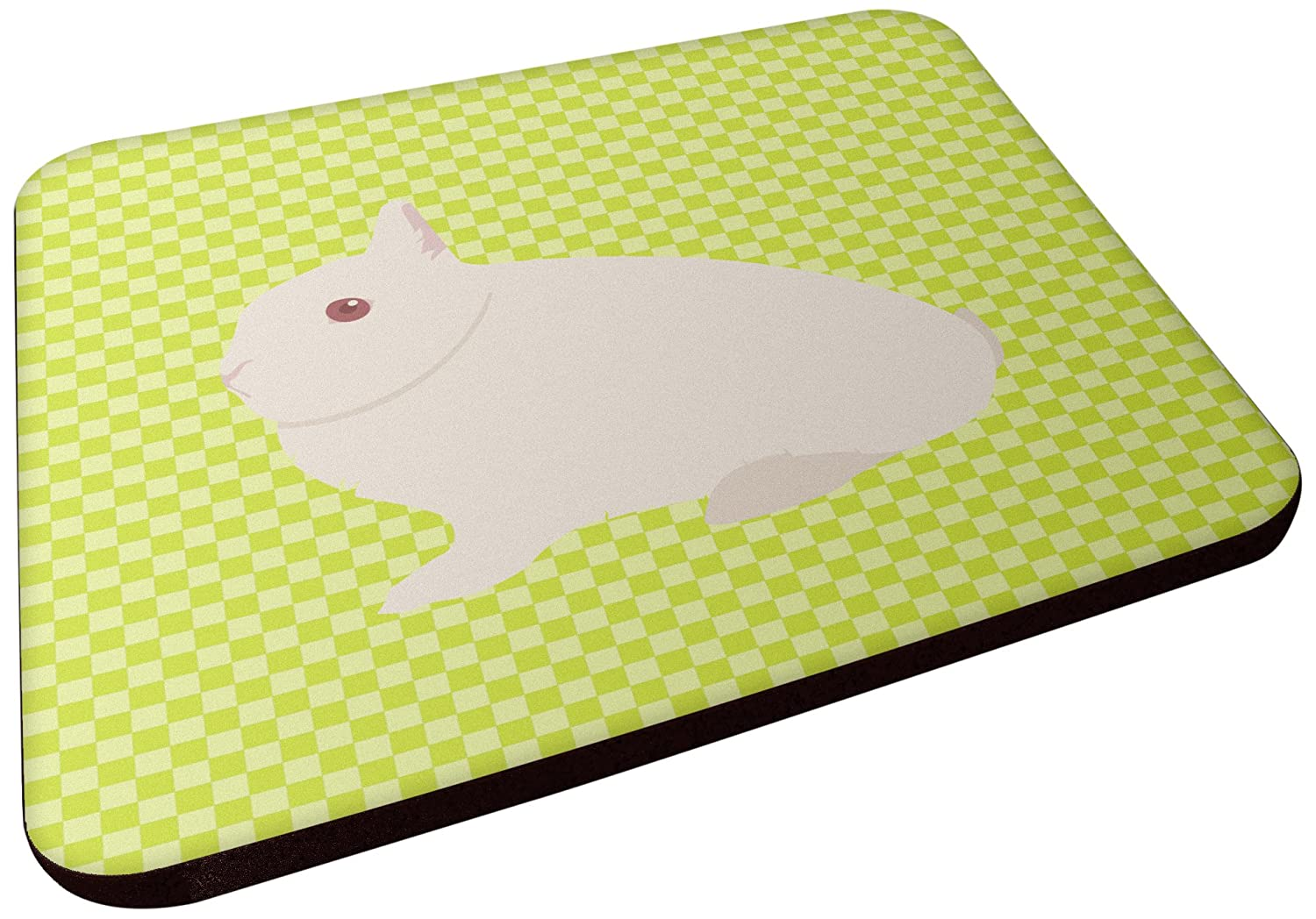 Carolines Treasures BB7790FC Hermelin Rabbit Green Decorative coasters 3.5 Multicolor