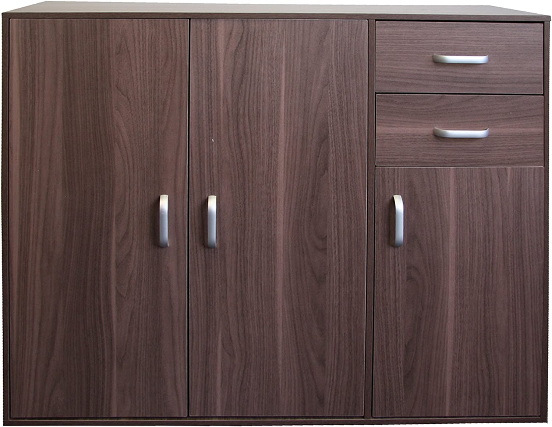 Beech Redstone Sideboard Cupboard 3 Doors 2 Drawers