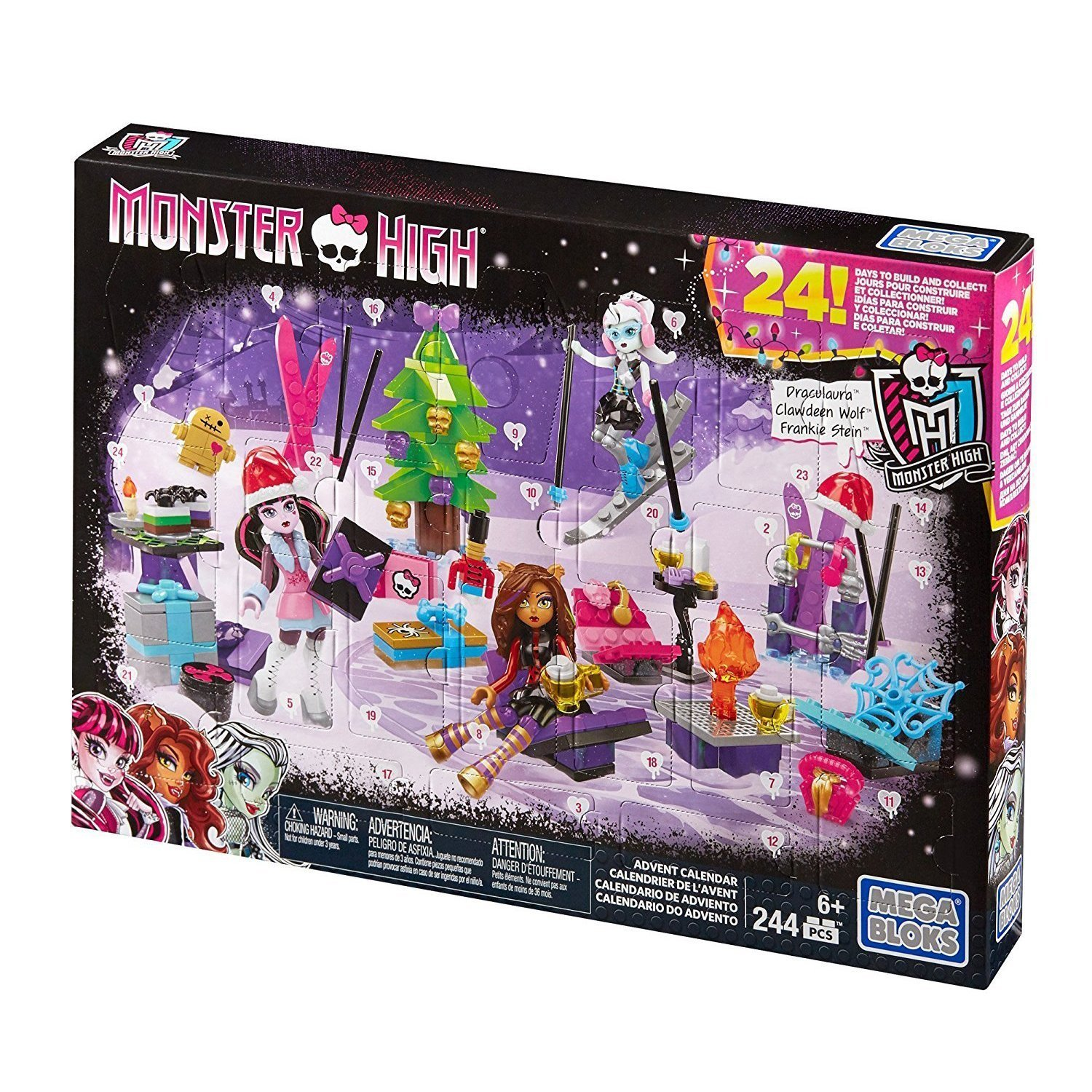 Mega Bloks DPK33 Monster High - Calendario de adviento Mattel