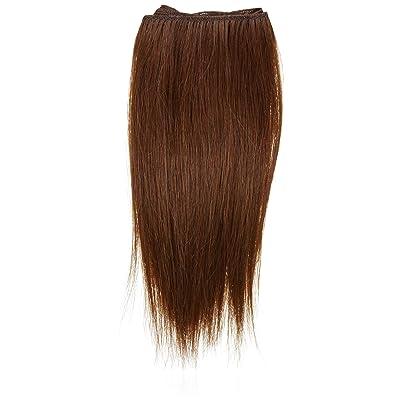 1st Lady - Extensiones de cabello natural humano europeo, liso y sedoso, con mezcla de tejido de calidad, número 33, castaño oscuro, 20,32 cm