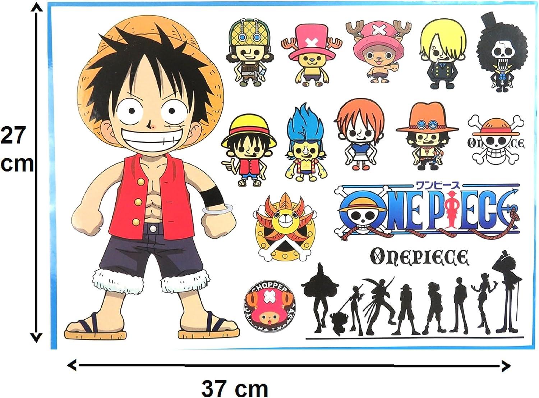 15 Pegatinas de One Piece película Pegatinas Equipo frigorífico Bicicleta, Pegatinas del Famoso Manga de One Piece.15pcs: Amazon.es: Electrónica