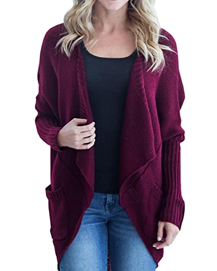 2ad5ad4c1ab Womens Cardigans Oversized Open Front Long Sleeve Lightweight ...