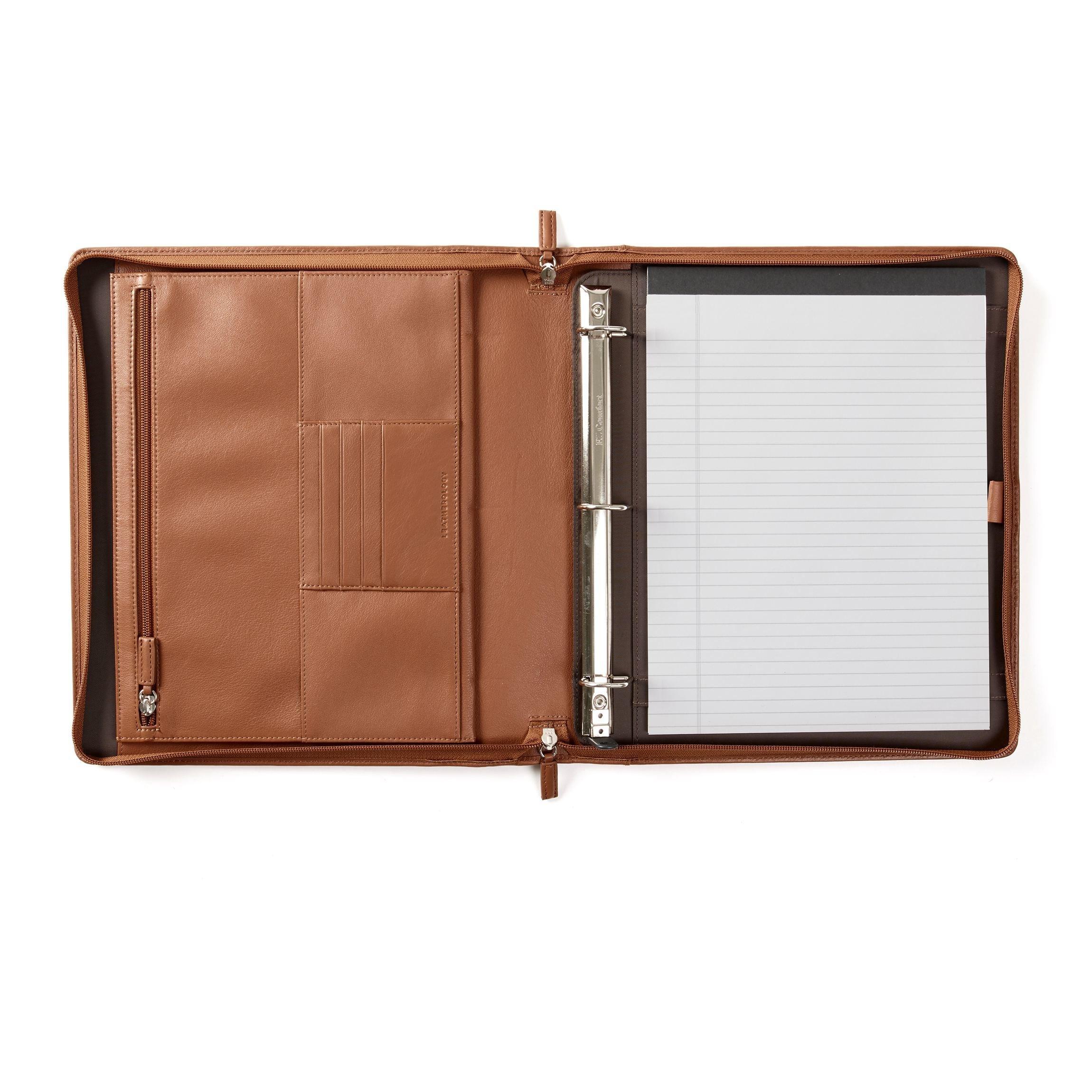 Padfolio Binder - Full Grain Leather - Cognac (brown)