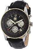 Constantin Durmont Herren-Armbanduhr XL Air Commander Chronograph Leder CD-AIRC-QZ-LT-STGD-BK