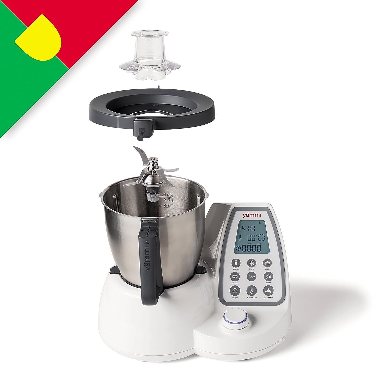 Yämmi Robot de Cocina Multifunción, Capacidad Bruta de 3.3L, 11 Funciones, Incluye 9 Accesorios, Potencia 1500 W, Motor 500 W, Libro de Recetas en ...
