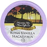 Hawaiian Isles Kona Coffee Kona Vanilla Macadmia Nut Single-Serve K-Cup Pods Compatible, Medium Roast, 10 Count