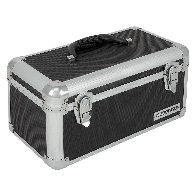 Mallette à outils Andorra - Boîte de transport d'outils - Couleur au choix, noir anndora