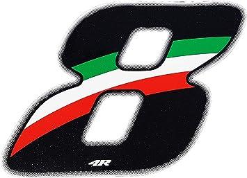 quattroerre 13168/N/úmero Racing Flag 8 10/x 7,5/cm