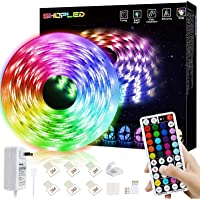 SHOPLED LED Strips Lights 5m RGB Light Strip Kit, 5050 SMD Flexible Color Changing LED Tape Lights with RF Remote…