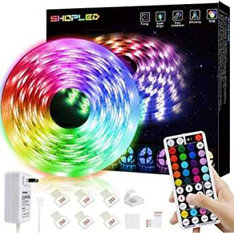 SHOPLED LED Strips Lights 5m RGB Light Strip Kit, 5050 SMD Flexible Color Changing LED Tape Lights with RF Remote Control, RGB LED Light Strips for Bedroom, TV, Party