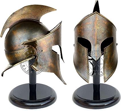 Costumes de cosplay antiques 300 casques romains AnNafi Casque de spartiate grec du roi Leonidas