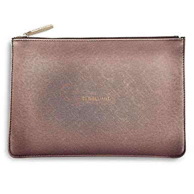 b70e96009 Katie Loxton Perfect Pouch Clutch Bag Metallic Rose Pewter - BE BRILLIANT:  Amazon.co.uk: Clothing