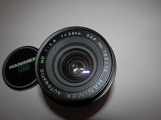 Lente Hanimex Automatic MC F=28 mm 1: 2.8 – 55 mm de diámetro ...