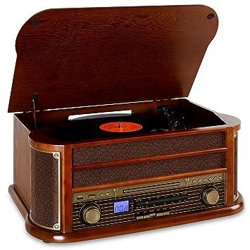 Auna - Equipo de música «Belle Epoque 1908» retro, minicadena con ...