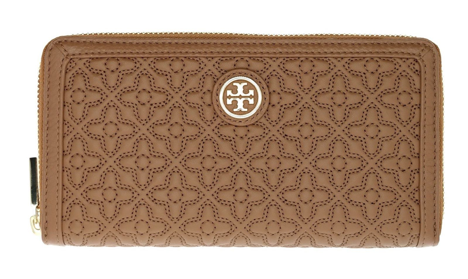 Tory Burch Bryant Zip Continental Leather Wallet Style No. 18169274 (Luggage) by Tory Burch