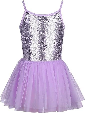 trudge Vestido de Ballet para niña, Falda de tutú, de Lentejuelas ...