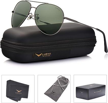 MUCO Aviador Polarizado Gafas De Sol Para Unisex Protecci/ón UV De Conducci/ón Al Aire Libre Con Estuche Marca