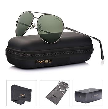 Amazon.com: LUENX Aviator Gafas de sol polarizadas para ...
