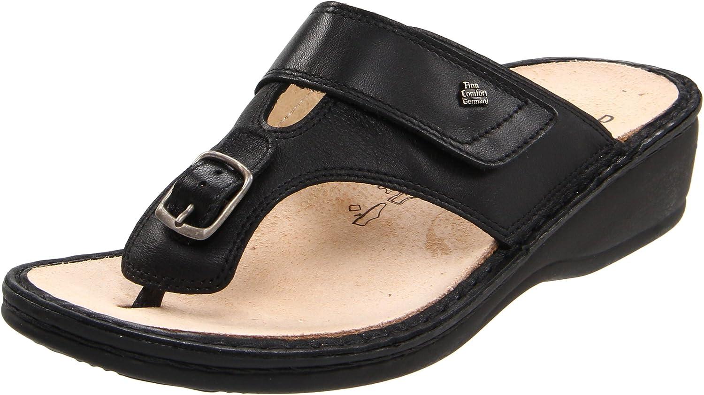 Finn Comfort Women's Phuket 2533 Sandal B001A6337U 42 EU (11.5-12 M (B) US)|Black Nappa Classic Footbed