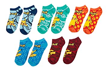 pokemon mix and match ankle socks set of 5 amazon co uk sports