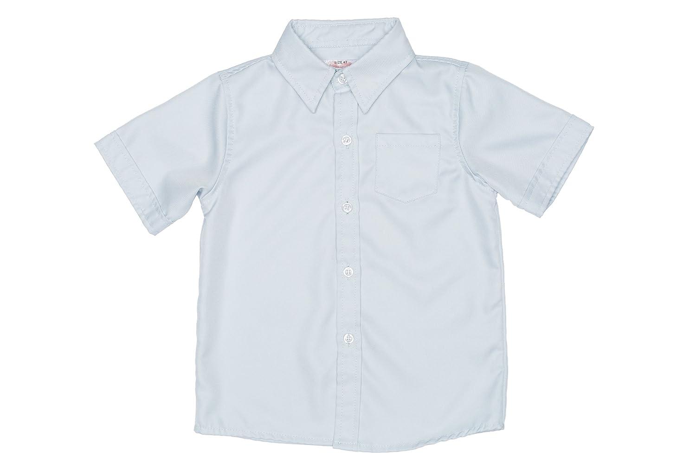 2-Cute Designs Little Boys-Short Sleeve Dress Shirt