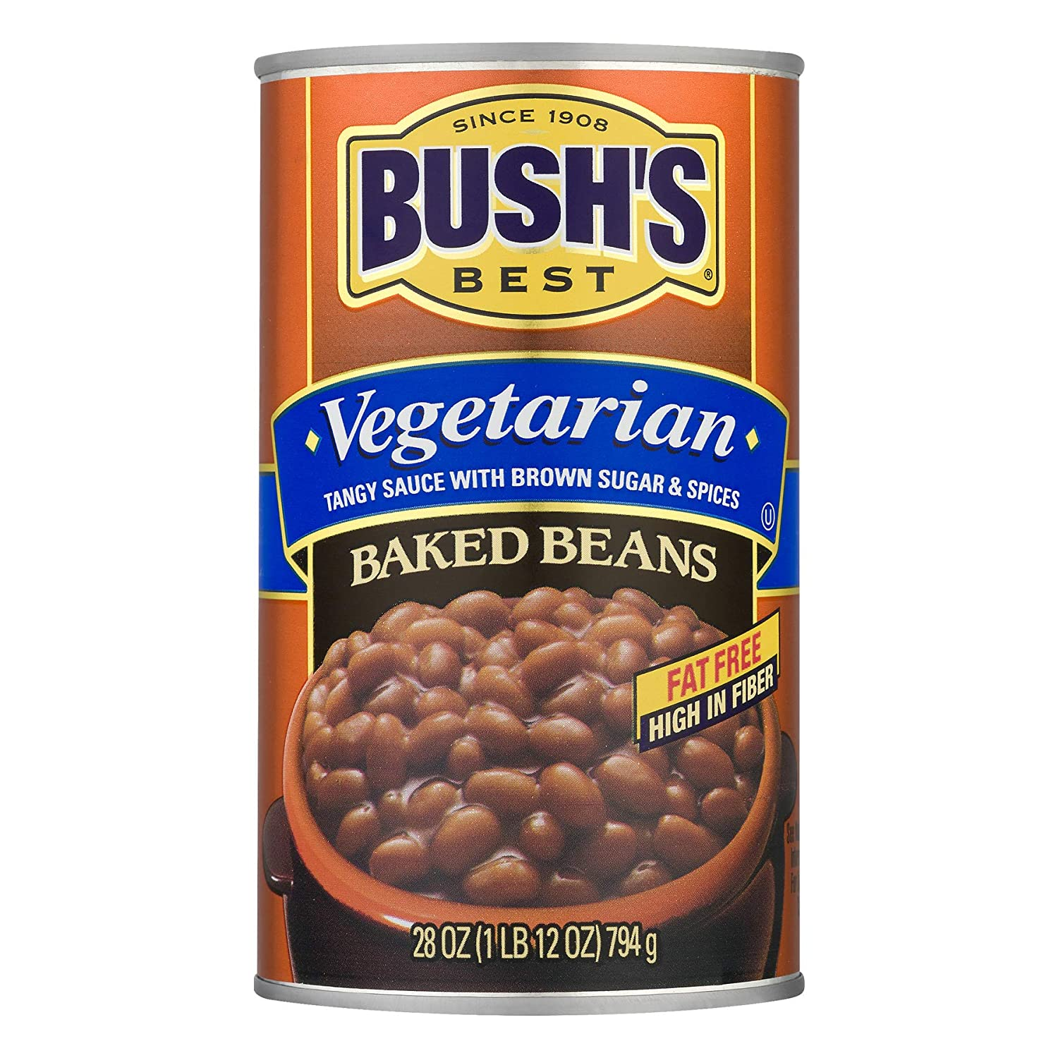Amazon Com Bush S Best Vegetarian Baked Beans 28oz Can Pack Of 4 Grocery Gourmet Food