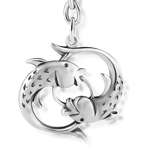 STERLL Llavero para hombre signo zodiacal Piscis, de plata ...