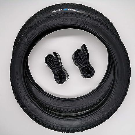 Blackstone - Cubierta para Bicicleta de 2 x 16 Pulgadas + cámara ...